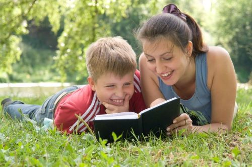 Mom and Son Read