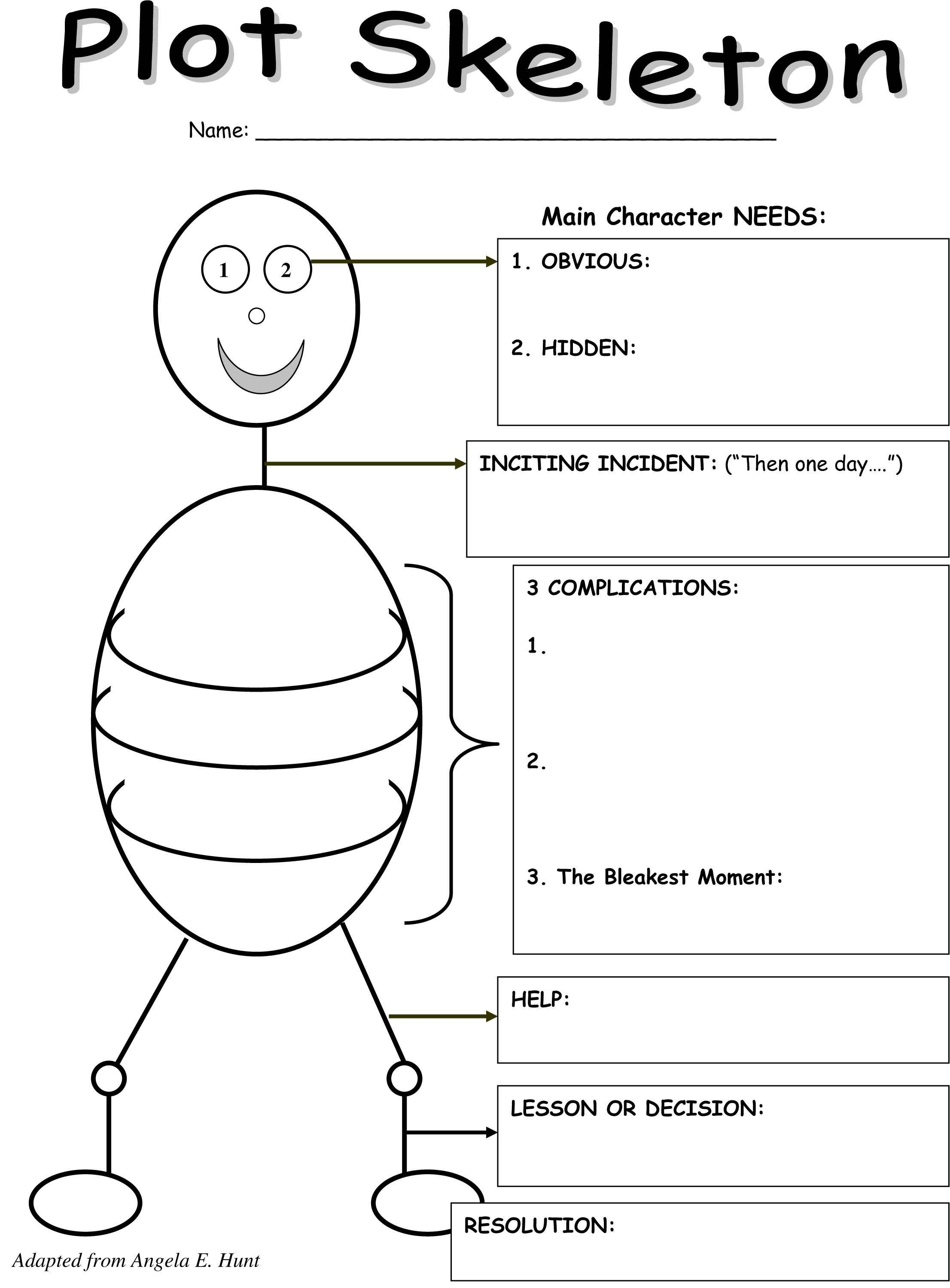 story outline template for kids - the plot thickens a graphic organizer for teaching