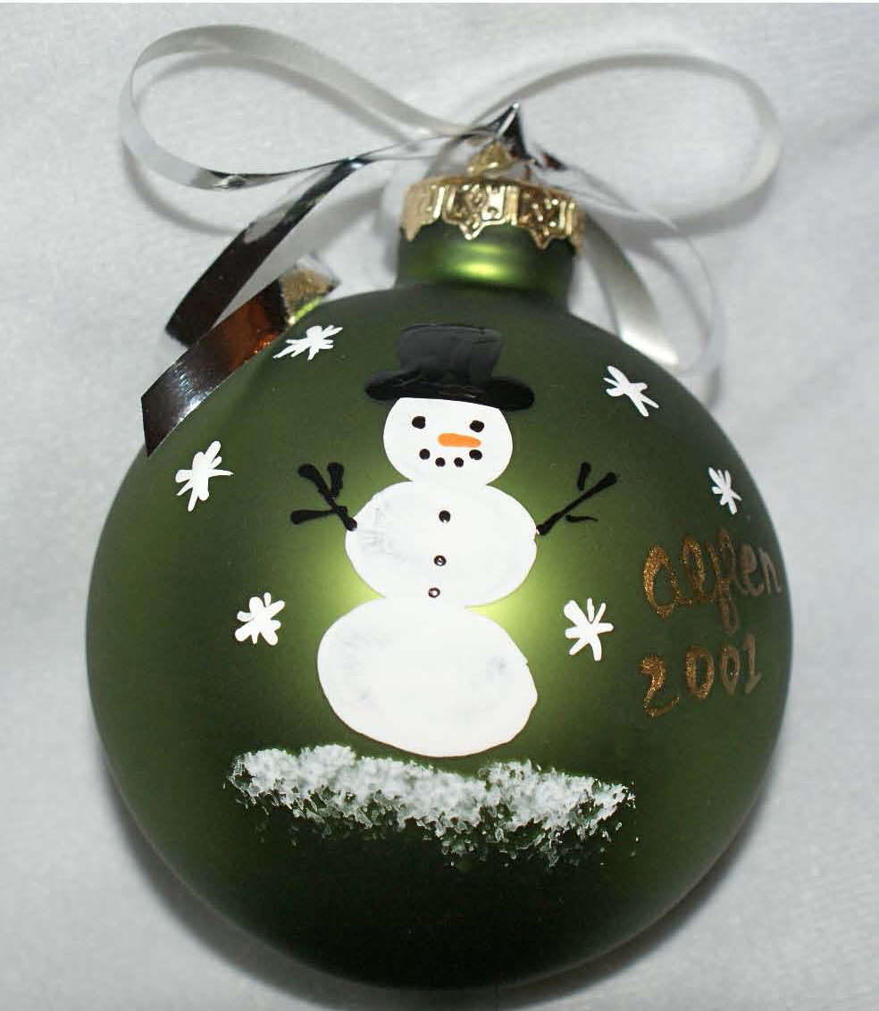 fingerprint snowmen ornaments parent gifts for a learning experience 2019