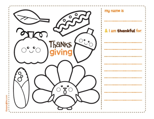 fall printable placemat + shared reading idea! | A Learning Experience